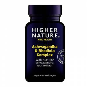 Higher Nature Høyere natur Ashwagandha & Rhodiola Complex Caps 30