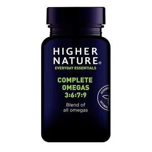 Higher Nature Høyere natur Komplett Omega 3-6-7-9 Kapsler 30 (QEO030)