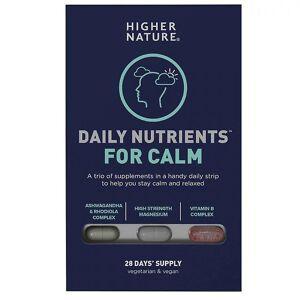 Higher Nature Høyere natur daglige næringsstoffer for calm caps 28 (DNCA028)