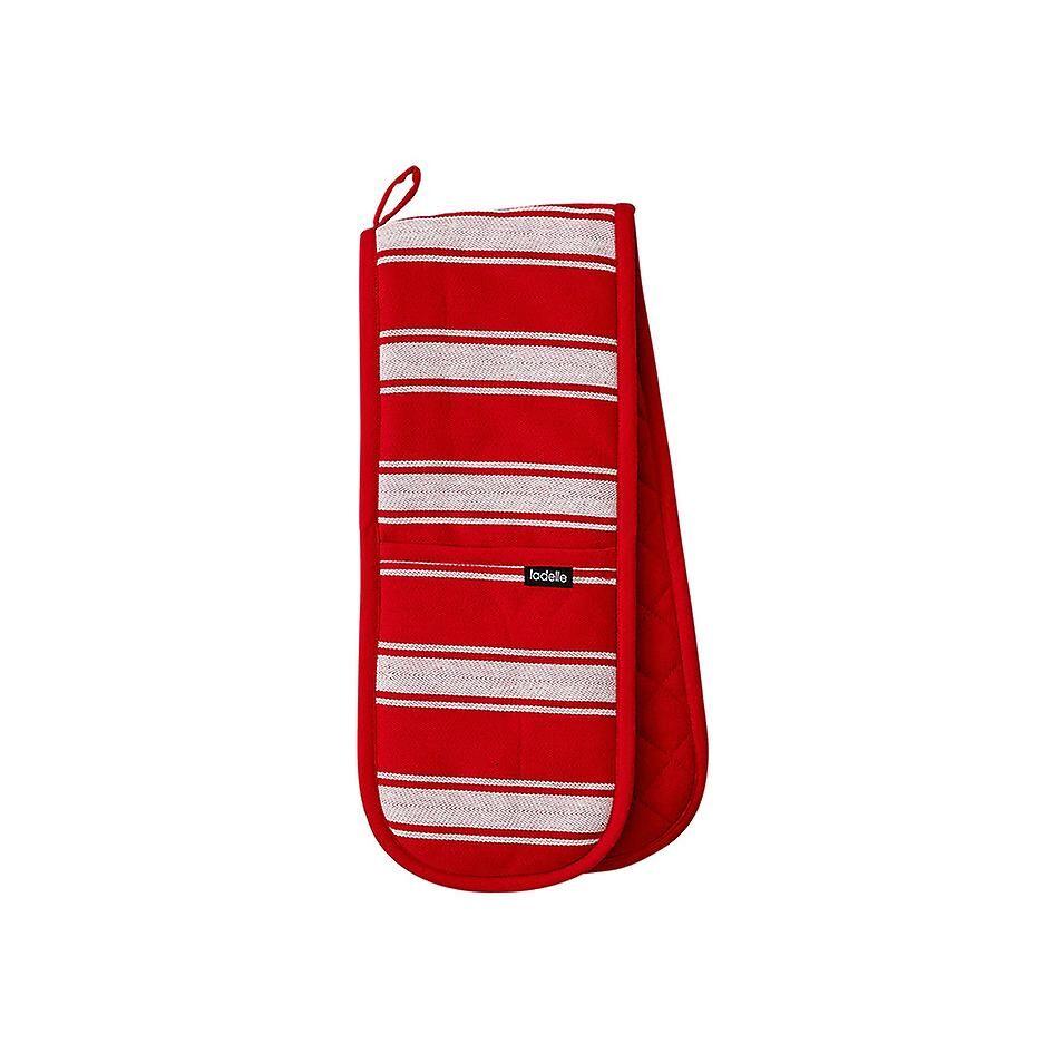 Ladelle slakter Stripe Series II røde doble ovnen hanske
