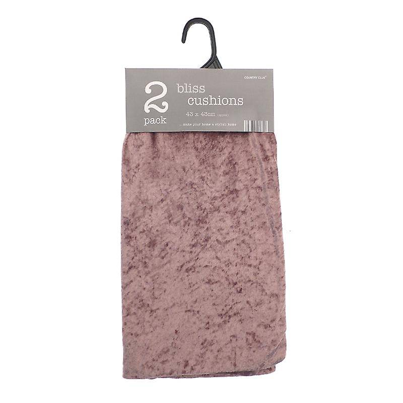 Country Club Pack of 2 Bliss Cushion Covers, Blush Pink