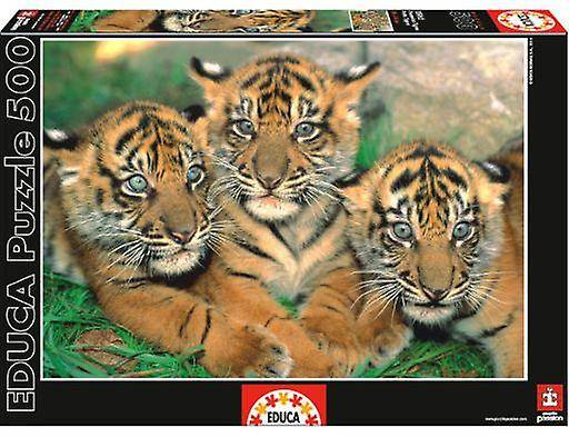Educa 500 Pieces Little Tigers (Babies and Children , Toys , Boardg...