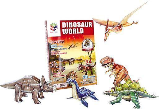 Legler Kan 3D Puzzle verden av dinosaurer (babyer og barn, leker, b...