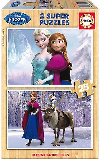 Educa 2x25 Frozen Puzzles (Babies and Children , Toys , Boardgames)