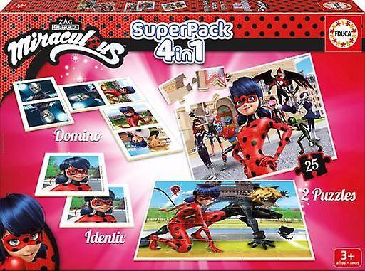 Educa Superpack Prodigiosa: Eventyr Ladybug 350 gr