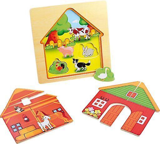 Legler Layered puzzle  Barn  (Babies and Children , Toys , Preschoo...