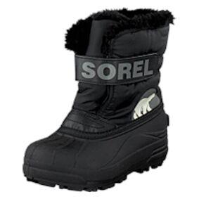 Sorel Snow Commander 010 Black, Charcoal, Shoes, svart, EU 25