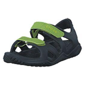 Crocs Swiftwater River Sandal K Black/volt Green, Shoes, grå, EU 27/28