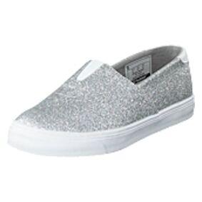 Hummel Slip-on Ballerina Glitter Jr Silver, Shoes, grå, EU 30