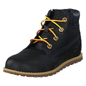Timberland Pokey Pine 6in Boot With Side Black Iris, Shoes, svart, EU 28