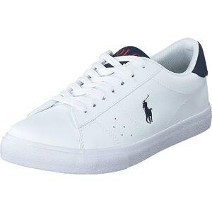 Ralph Lauren Junior Theron White/ Navy, Sko, Sneakers og Treningssko, Lave Sneakers, Hvit, Unisex, 37