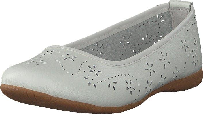Wildflower Farsund White, Sko, Lave sko, Ballerina, Grå, Hvit, Barn, 31