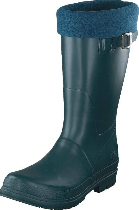 Viking Vendela Jr. W/fleece Sock Dark Green, Sko, Støvler & Støvletter, Høye Gummistøvler, Turkis, Barn, 28