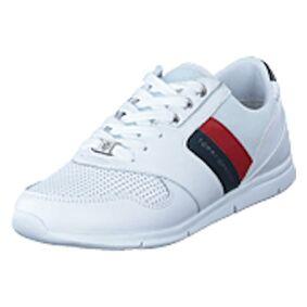 Tommy Hilfiger Lightweight Leather Sneaker Rwb, shoes, hvit, EU 40