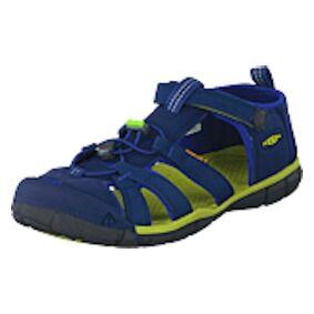 Keen Seacamp Ii Cnx Youth Blue Depths/chartreuse, Shoes, blå, EU 34