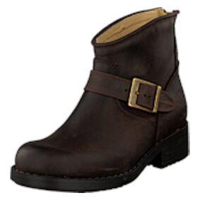 Johnny Bulls Very Low Boot Zip Back Brown/Gold, Shoes, brun, EU 37