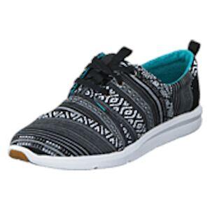 Toms Del Rey Sneaker Black White Cultural Woven, Shoes, turkis, EU 37,5