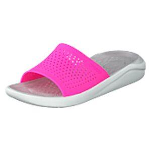 Crocs Literide Slide Electric Pink/almost White, Shoes, grå, EU 41/42