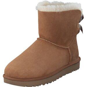 UGG Mini Bailey Bow II Chestnut, Sko, Boots, Saueskinn støvler, Brun, Dame, 39