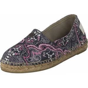 Odd Molly Oddspadrillos Print Almost Black, Sko, Lave sko, Slip on, Brun, Dame, 36