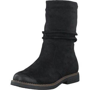 Rieker 97860-00 Black, Sko, Boots, Høye boots, Svart, Dame, 36