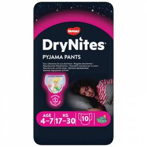 DryNites Girl Pyjama Pants 4-7 Years 10 stk Nattundertøy