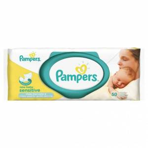Pampers Sensitive New Baby Wipes 50 stk Våtservietter