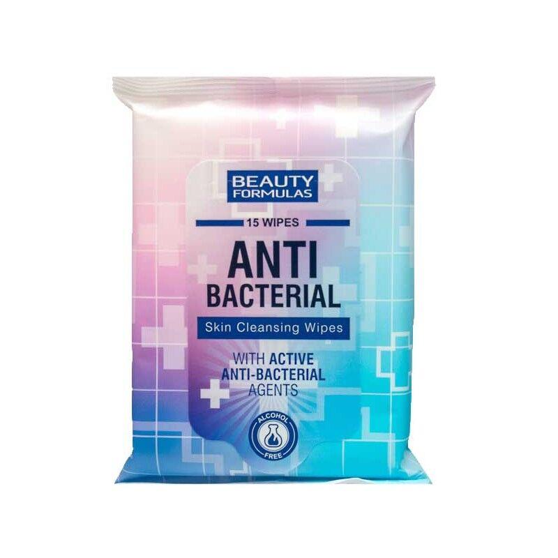 Beauty Formulas AntiBacterial Skin Cleansing Wipes 15 stk Våtservietter