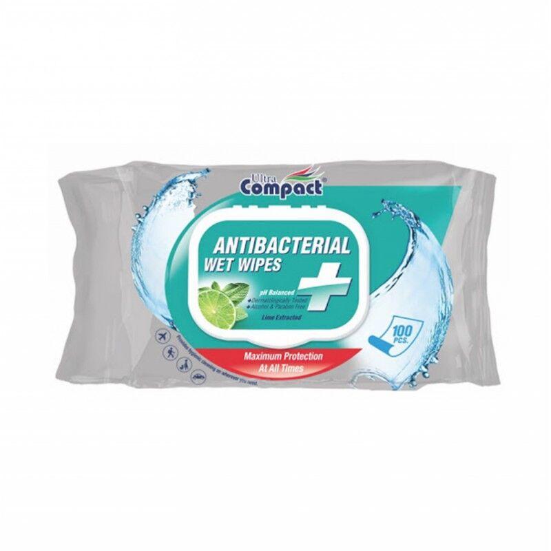 Ultra Compact Antibacterial Wipes 100 stk Våtservietter