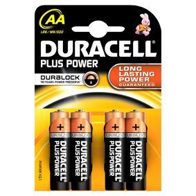 Duracell AA Duralock Plus Power 4 stk Batterier