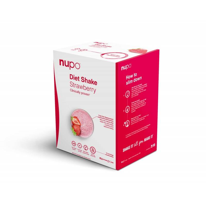 Nupo Kickstart Diet Shake Strawberry 384 g Slankekur