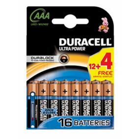 Duracell AAA Duralock Ultra 16 stk Batterier