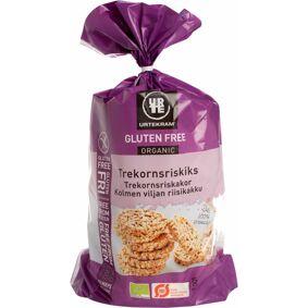 Urtekram Trekornsriskak Glutenfri Øko 100 g Snack