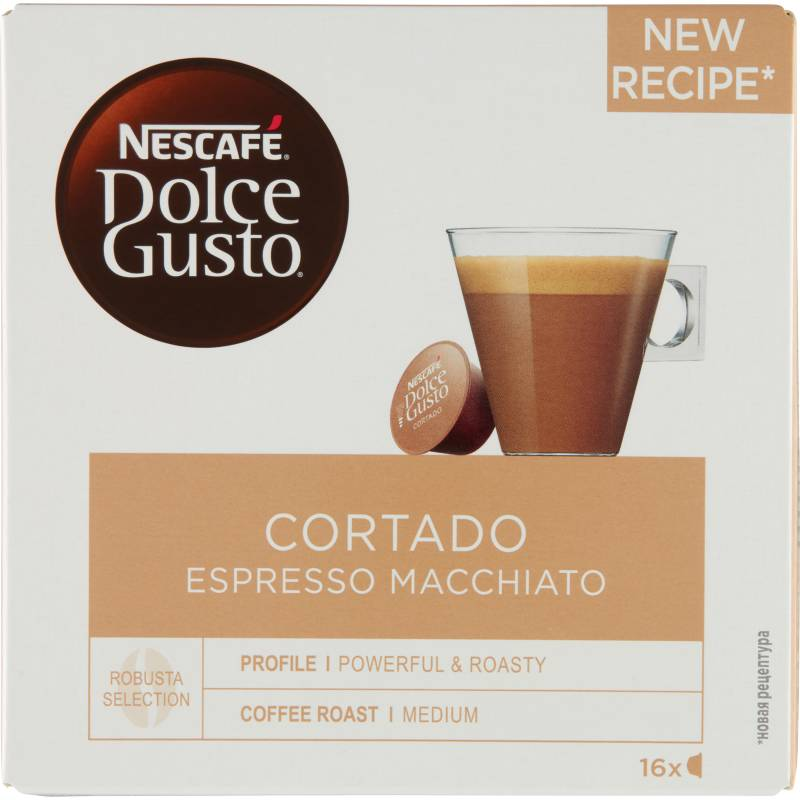 Nescafe Dolce Gusto Cortado Espresso Macchiato 16 stk Kaffekapsler