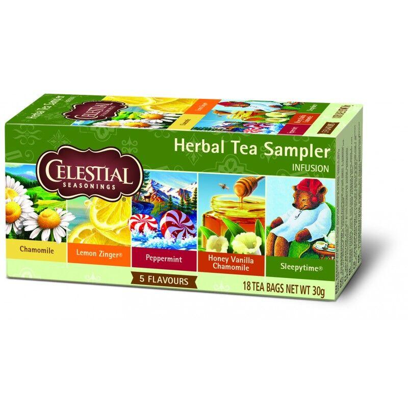 Celestial Herbal Tea Sampler 18 sachets Te