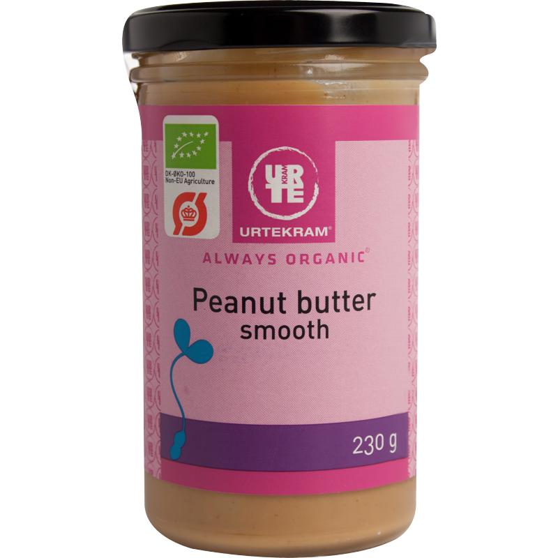 Urtekram Peanutt Smør Smooth Øko 230 g Smørepålegg