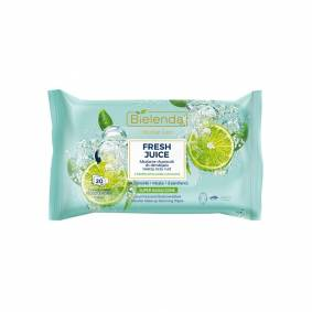 Bielenda Fresh Juice Micellar Care Wipes Lime 20 stk Sminkefjerner