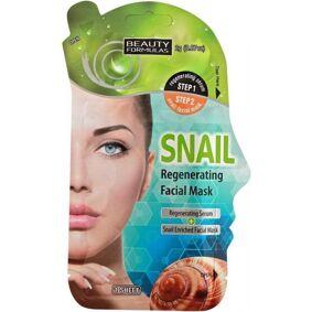 Beauty Formulas Snail Regenerating Facial Mask 1 stk Ansiktsmaske