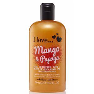 I Love Cosmetics Bath & Shower Creme Mango & Papaya 500 ml Dusjsåpe