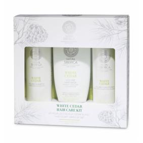 Natura Siberica White Cedar Hair Care Kit 2 x 250 ml + 200 ml Gaveeske