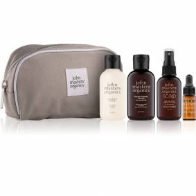 John Masters Organics Essential Travel Kit Normal Hair 2 x 60 ml + 30 ml + 3 ml + 1 stk Reisesett