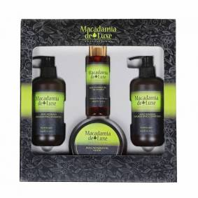 Macadamia De Luxe Hair Kit 2 x 300 ml + 250 ml + 100 ml Gaveeske