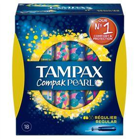 Tampax Compak Pearl Regular 18 stk Tamponger