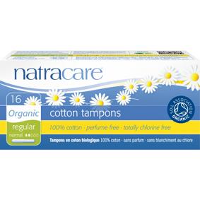NatraCare Organic Cotton Tampons Regular 16 stk Tamponger
