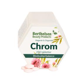 Berthelsen Chrom 62,5 mcg - Vegetabilsk 250 tabletter Mineraler
