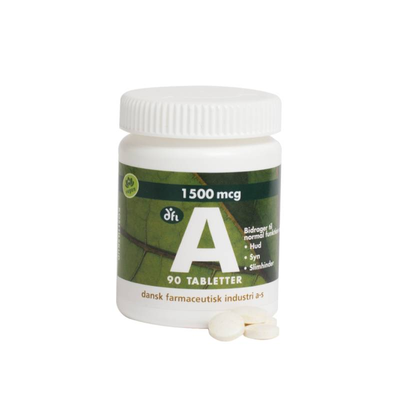 DFI A-vitamin 1500 mcg 90 tabletter Vitaminpiller