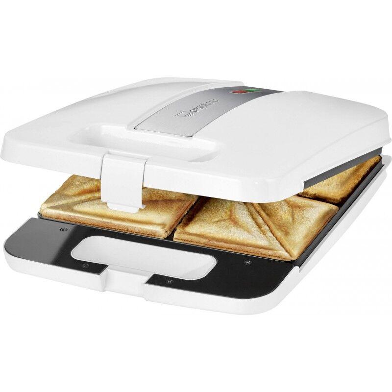 Clatronic ST 3629 Sandwich Toaster White 1 stk Kjøkkenutstyr