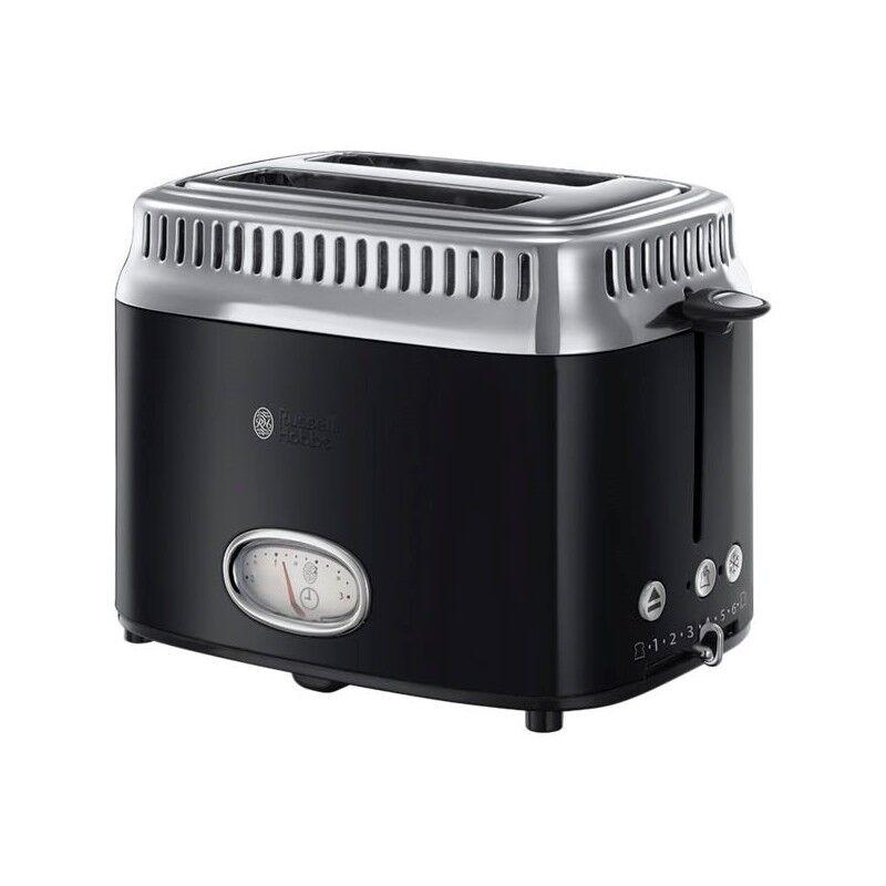 Russell Hobbs 21681-56 Retro Black 2 Slice Toaster 1 stk Kjøkkenutstyr