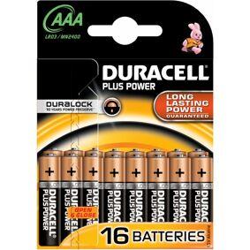 Duracell AAA Plus Power 16 stk Batterier