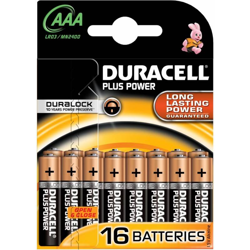 Duracell AAA Plus Power 16 stk Batterier